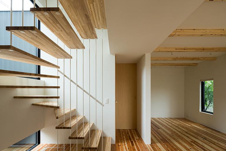 清瀬の家 階段 - 江戸川区の伊藤工務店
